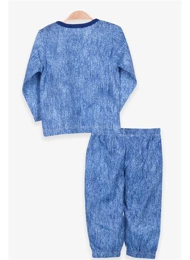 Breeze Erkek Bebek Pijama Takımı Desenli Mavi  Mavi